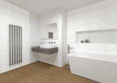Obklady do koupelny série White elegance nabízíme v čistě bílé barvě a ve formátech 25 x 50 cm nebo 20 x 60 cm. #keramikasoukup #koupelnyodsoukupa #white #elegance #simple #bathroom #koupelnyinspirace #koupelna #inspirace #inspo White Elegance, Catania, Alcove, Bathtub, Bathroom, Elegant, Standing Bath, Washroom, Classy