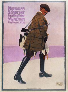 Ludwig Hohlwein. Hermann Scherrer Sporting Tailor. 1907 | Flickr - Photo Sharing!