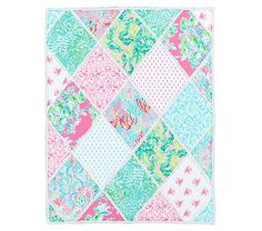 With its fun prints and vibrant palette, this Lilly Pulitzer Party Patchwork Toddler Quilt brightens up their room with tropical style. Imagined exclusively for Pottery Barn Kids by Lilly P Baby Quilt Patterns, Toddler Quilt, Quilt Bedding, Baby Furniture, Baby Quilts, Memory Quilts, Pottery Barn Kids, Creative Kids, Comforter Sets