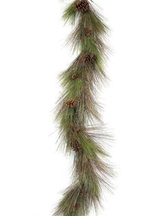 Pack of 2 Christmas Greens Long Needle Pine Christmas Garlands & Cones