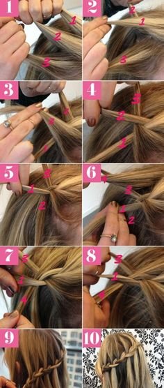 Waterfall braids are a beautiful variation of braids that are perfect for fancy occasions like weddings and proms.