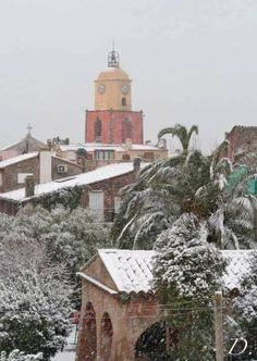 "Snow in Saint Tropez. From ""The Good Life France"""