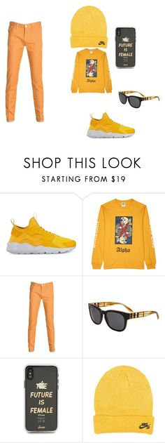 """this is my sunshine"" by legosarelifeme on Polyvore featuring NIKE, Billionaire Boys Club, PT05, Burberry and Sonix"