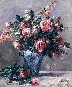 Pierre Auguste Renoir - Vase of Roses