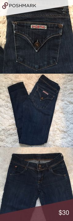 Hudson Skinny Jeans Perfect condition. Dark wash. Button enclosure on back pockets. Hudson Jeans Jeans Skinny