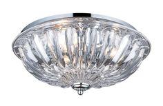 ELK Lighting Crystal Flushmounts 3- Light Flushmount In Polished Chrome - 31242/3