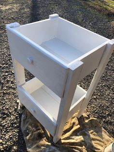 DIY 3 Tiered Chíc Rolling Cart/Side Table-Made From Dresser Drawers - cart bar bbq Diy Furniture Hacks, Repurposed Furniture, Furniture Makeover, Painted Furniture, Furniture Decor, Diy Furniture Arrangement, Furniture Design, Dresser Furniture, Value City Furniture