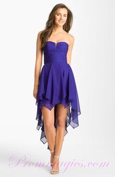 Cheap Cocktail Dresses | Designer Ruffles Strapless Regency Cheap Cocktail Dresses Latest