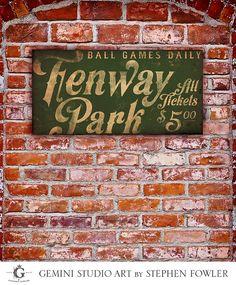 Fenway Park Boston Red Sox baseball club Fenway by geministudio
