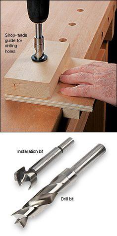 Dog Hole Bushings and Bits - Woodworking