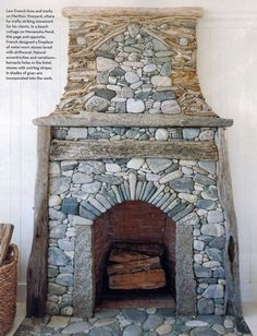 Inspiration: Stonework Mantel by Lew French