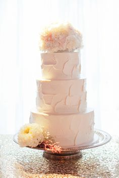 Spackled Buttercream Wedding Cake | photography by http://lovejanetphoto.com/