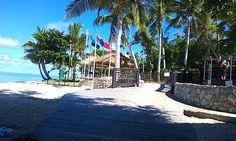 Turquoise water, beach, fringing palm trees, blue skies and peaceful atmosphere - its paradise #treasureislandfiji http://www.treasureisland-fiji.com/