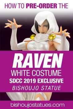 Kotobukiya has announced that the pre-orders have opened for the San Diego Comic-Con Exclusive Raven in White bishoujo statue from DC Comics. Bishoujo Statue, White Costumes, San Diego Comic Con, Raven, Dc Comics, News, Movie Posters, Ravens, Film Poster