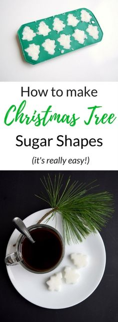 How to make Christmas tree sugar shapes!