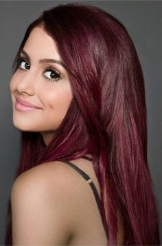 Ariana grande has burgundy hair and a warm skin-tone. I wonder if this would work for someone with olive skin and green eyes?