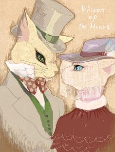 Whisper of the Heart | Hiiragi Aoi | Studio Ghibli / Baron Humbert von Gikkingen and Louise / 「男爵と貴婦人」/「比須」のイラスト [pixiv]