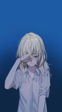 Anime, Your Lie in April Mobile Wallpaper - Ridonna Pasquer Sad Anime Girl, Anime Life, Sad Girl, Anime Art Girl, Your Lie In April, Sad Anime Couples, Manga Japan, Sad Wallpaper, Mobile Wallpaper