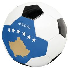 kosovo soccer ball - tap, personalize, buy right now! #soccerball #flag, #flags, #pristina, #kosovo, #flag Soccer Gear, Soccer Ball, Soccer Fifa, Hockey, Kosovo Flag, Old Fashioned Games, Flag Store, Flag Football, College Football