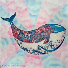 dessin de johanna basford océan perdu coloriage : l'éclat des couleurs par solveig