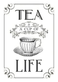 Tea graphic reversed and ready to be printed on a laser printer and transferred onto your painted surface with Artisan Enhancements Transfer Gel! Vintage Diy, Vintage Labels, Vintage Party, A Cup Of Life, Etiquette Vintage, Foto Transfer, Transfer Paper, Tea Quotes, Tea Art