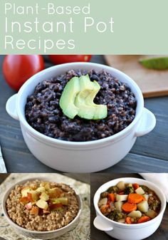Plant-Based Diet Instant Pot recipes that are perfect for pressure cooking beginners. All recipes are vegan, allergy-friendly and oil-free.