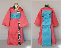Costumes Couture, Diy Costumes, Costume Japonais, Japanese Costume, Toddler Costumes, Kimono Fabric, Period Costumes, Yukata, Toddler Dress