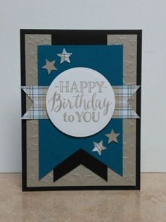 Masculine Birthday Card-Blue |