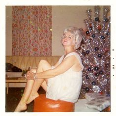 43 Interesting Vintage Snapshots Captured Middle-Aged Women Posing Next to Christmas Trees From the 1950s-60s - Vintage Everyday