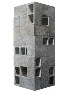 'Monday' painting by American artist Nolan Haan. It could easily be an architectural model or a Chillida sculpture. Concrete Sculpture, Concrete Art, Sculpture Art, Concrete Blocks, Concrete Architecture, Architecture Design, Arch Model, American Artists, Contemporary Art
