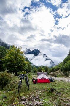 Camping in Valbona National Park, Albania. Photo (c) Beth Puliti. www.bethpuliti.com