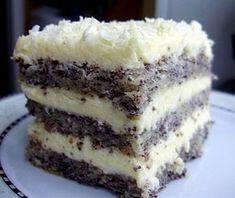 Tort makowy carycy Ester Polish Desserts, Polish Recipes, Sweet Recipes, Cake Recipes, Dessert Recipes, Kolaci I Torte, Different Cakes, Christmas Baking, Chocolate Recipes