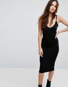 Boohoo V Neck Cami Midi Dress