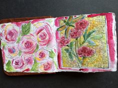 New gifted watercolor journal. Watercolor by Tisha Sheldon