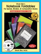 Foldables for Spirals, Binders & Comp Books.  Interactive Journaling
