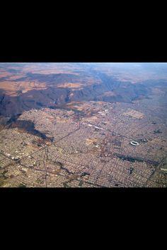 Foto aérea de la barranca de Huentitan