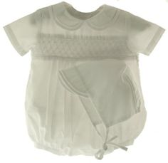 58f59f7e3e3 Amazon.com  Newborn Baby Boys White Christening Outfit   Hat Take Home  Petit Ami Baby Clothes  Infant And Toddler Layette Sets  Clothing