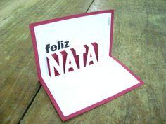 Cartão pop-up: Feliz Natal
