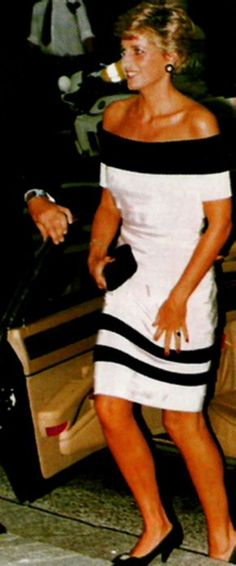 "September 3, 1991: Princess Diana during her attendance at the ""La Boheme"" at Sadlers Wells Theatre in London."