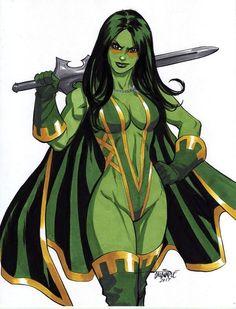 "thebestofwomenincomics: "" Friday Feature: Scott Dalrymple Gamora, daughter of Thanos. Comic Book Heroines, Comic Movies, Comic Book Characters, Marvel Characters, Comic Books Art, Comic Art, Marvel Women, Marvel Girls, Comics Girls"