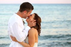 Beach wedding Riviera Maya Now Jade Resort, sweet love and a gentle kiss by the sea!  Mexico wedding photographers Del Sol Photography @Nancy Willis Jade Riviera Cancun