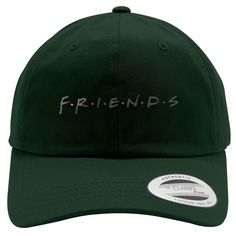 Friends Embroidered Cotton Twill Hat