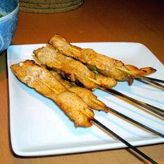Chinese Chicken Recipes | Gretchen's Cookbook - Chicken Satay (Chicken on a Stick) recipe
