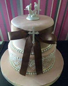 See 2 photos from 6 visitors to Cupcake Couture. Confirmation Cakes, Cupcake Couture, Communion, Wedding Cakes, Wedding Gown Cakes, Cake Wedding, Wedding Cake, Community, Wedding Pies