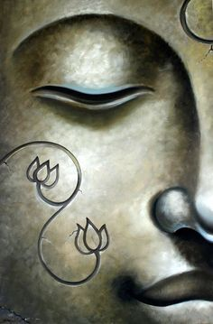 Buddha by lovingjulia Zen Painting, Simple Oil Painting, Buddha Painting, Easy Canvas Painting, Buddha Face, Buddha Zen, Buddha Buddhism, Buddhist Art, Buddhist Teachings