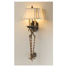 Murray Feiss WB1466SLS 2 Light Castalia Wall Sconce by Murray Feiss. $209.00. Light Bulb:(2)60w B10 Cand C Incand  Castalia Wall Sconce  On/off switch  Silver leaf sienna finish  Cream color shantung shade. Save 30% Off!