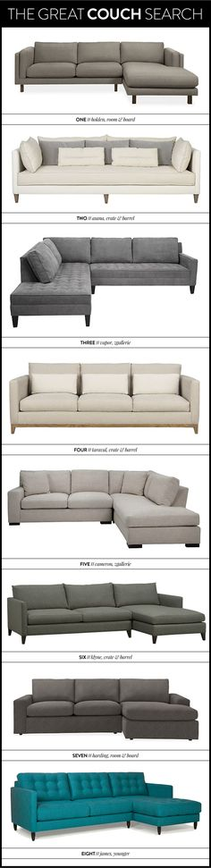 the great couch search - sofa - sectional - meg biram Top sofa might work for my room. New Living Room, Home And Living, Living Room Decor, Sofa Furniture, Furniture Design, Sofa Design, Interior Design, Sofa Set, Sectional Sofa