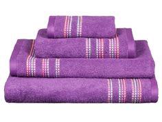 Toalla rizo Telma morado  Revitex textil-hogar