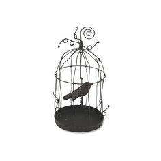 "6"" Crow Cage Ornaments Black Set of 2 Ornaments (€18) ❤ liked on Polyvore featuring home, home decor, holiday decorations, black, bethany lowe, black home decor, black ornaments, holiday home decor and holiday ornaments"