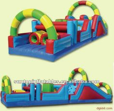 #inflatable obstacle course, #inflatable game, #inflatable water obstacle course games